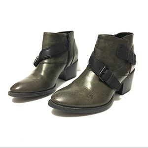 Crown Vintage Buckle Ankle Boots 8.5